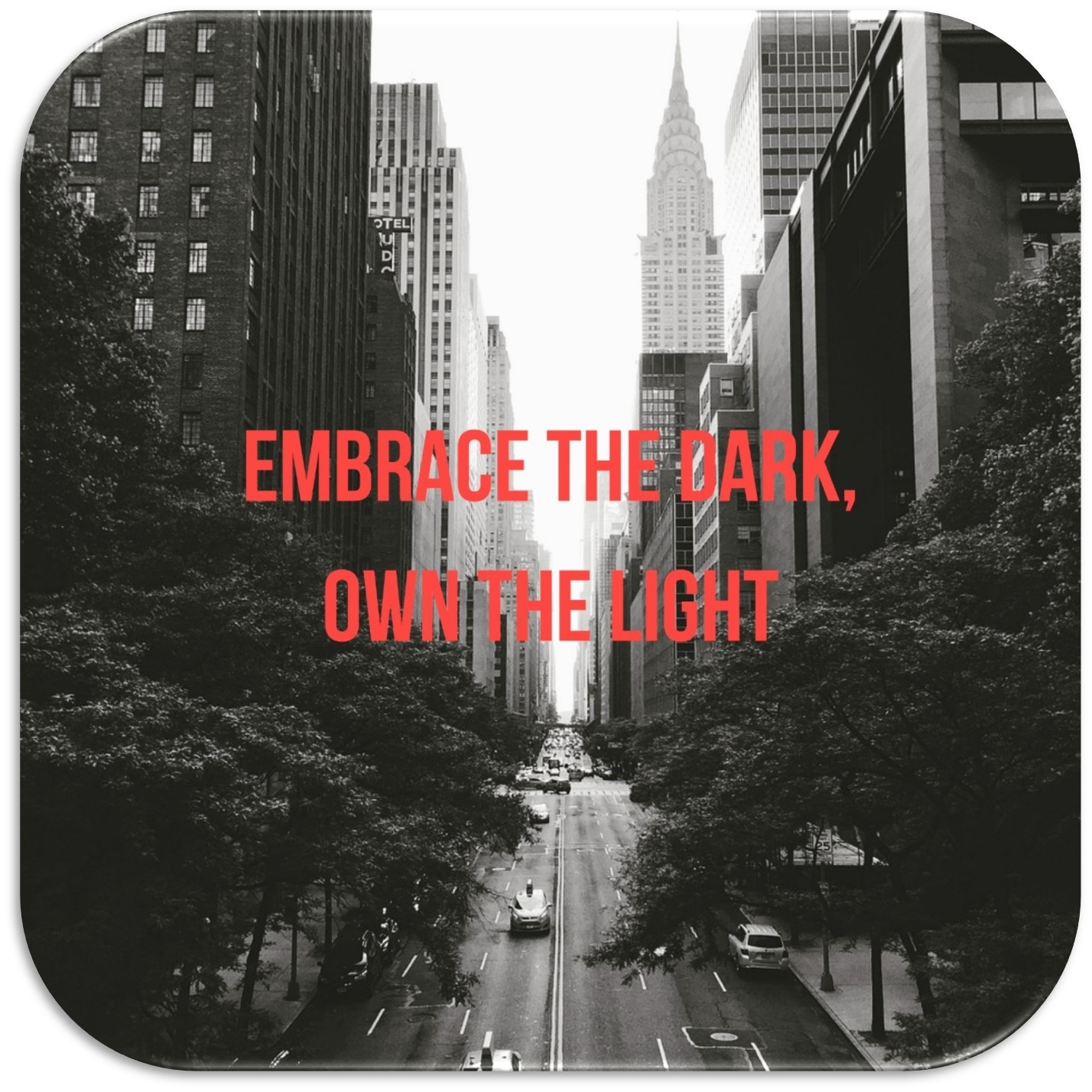Embrace the dark, own the light huychman homepage