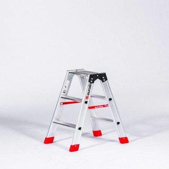 Lichtgewicht dubbele trap 2x3 treden