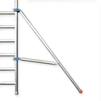 Rolsteiger met enkele voorloopleuning 135 x 250 x 12,2 meter werkhoogte