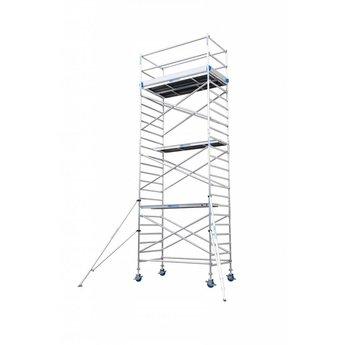Euroscaffold Rolsteiger Compleet 90  x 190 x 7,2 meter werkhoogte  met vario voorloopleuning