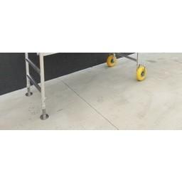 Set tuinsteigerwielen - 2 x wiel / 2 x voetplaat