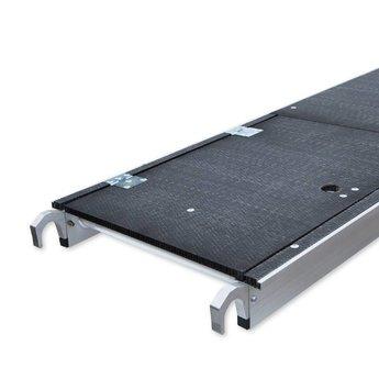 Euroscaffold Rolsteiger Voorloopleuning Enkel 135 x 190 x 4,2 meter werkhoogte met lichtgewicht platform
