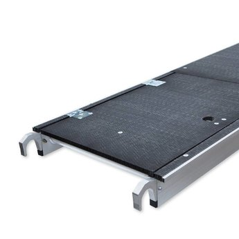 Euroscaffold Rolsteiger Voorloopleuning Enkel 135 x 190 x 9,2 meter werkhoogte met lichtgewicht platform