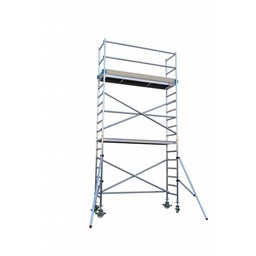 Euroscaffold Rolsteiger Basis 135 x 250 x 6,2 meter werkhoogte  aangepaste configuratie
