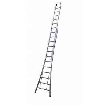 Tweedelige ladder 2x8 Maxall premium | werkhoogte 4,5 m.
