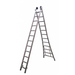 Maxall Tweedelige ladder 2x12 Maxall geanodiseerd