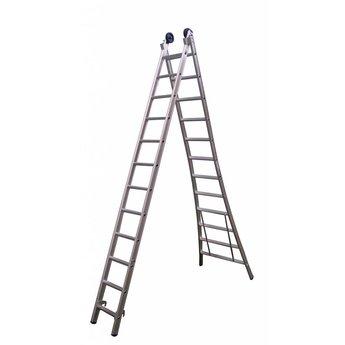 Tweedelige ladder 2x12 Maxall premium | werkhoogte 6,5 m.