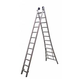 Maxall Tweedelige ladder 2x14 Maxall blank