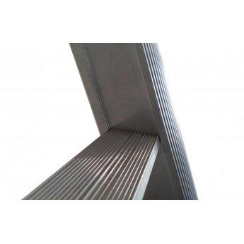 Tweedelige ladder 2x8 Maxall  recht met stabiliteitsbalk | werkhoogte 4,5 m.