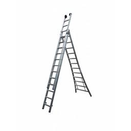 Maxall Driedelige ladder 3x7 Maxall blank