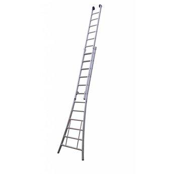 Tweedelige ladder 2x18 Maxall Premium   werkhoogte 9,5 m.