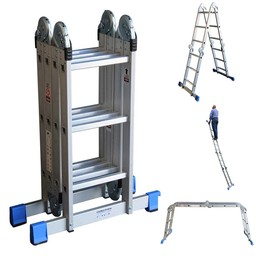Multifunctionele vouwladder 4x3 DHZ