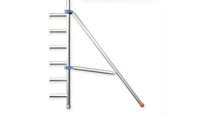 Hoe plaats ik een stabilisator op een steiger?