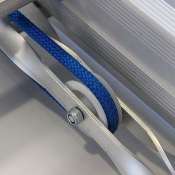 Solide 2 delige schuifladder met touw 2x20