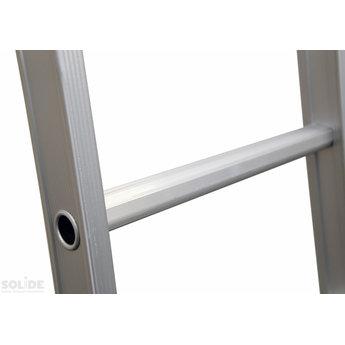 Solide 3 delige schuifladder met touw 3x16