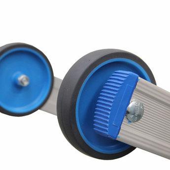 Solide 3 delige schuifladder met touw 3x18