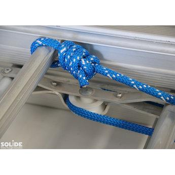 Solide 3 delige schuifladder met touw 3x22