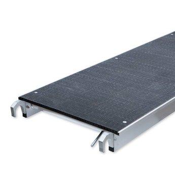 Euroscaffold Rolsteiger Voorloopleuning Dubbel 135 x 250 x 12,2 meter werkhoogte met lichtgewicht platform