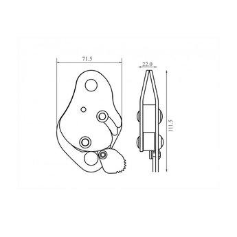 Kratos Lijnklem voor kernmantel lijn 11 mm