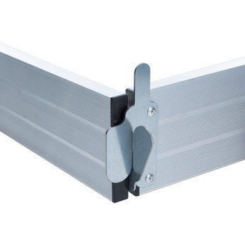 Kantplankset aluminium 135 x 190  cm