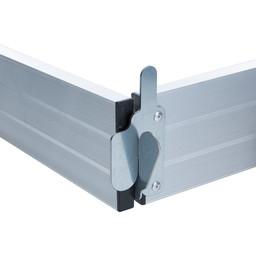 Kantplankset aluminium 135 x 250 cm