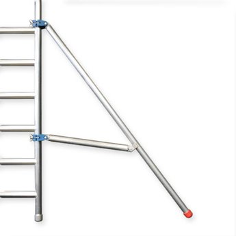 Rolsteiger Euro Voorloopleuning Dubbel 135 x 250 x 12,2 meter werkhoogte met lichtgewicht platform