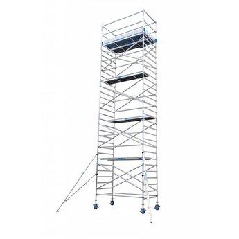 Euroscaffold Rolsteiger Compleet 135 x 250 x 10,2 meter werkhoogte met extra stabilisatoren