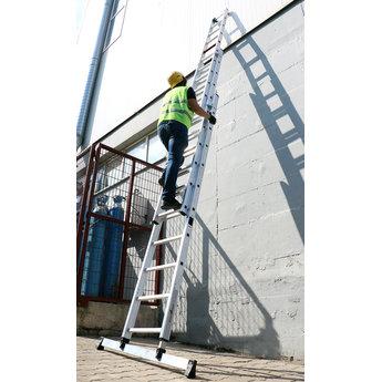 3 delige ladder Smart Level 3 x 12 | werkhoogte 8,9 m.