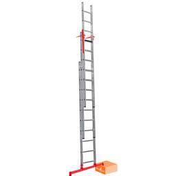 3 delige ladder Smart Level en Top Safe 3 x 8 | werkhoogte 6,3 m.