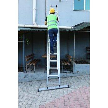 3 delige ladder Smart Level en Top Safe 3 x 10   werkhoogte 7,3 m.