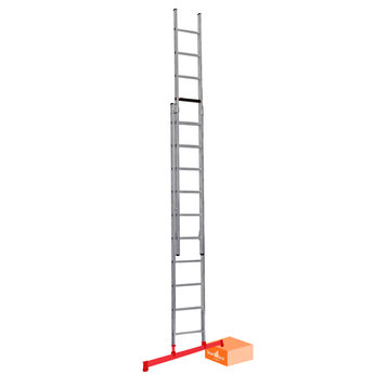 2 delige ladder Smart Level 2 x10 | werkhoogte 5,5 m.