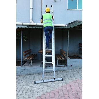 Smart Level 2 delige ladder Smart Level en Top Safe 2 x 12 | werkhoogte 6,5 m.