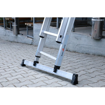 2 delige ladder Smart Level en Top Safe 2 x 12 | werkhoogte 6,5 m.