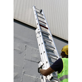Smart Level 3 delige ladder Top Safe 3 x 14 | werkhoogte 9,9 m.