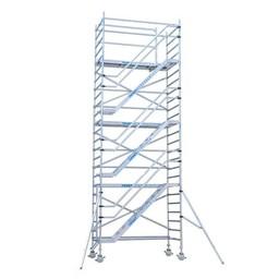 Euroscaffold Rolsteiger Trappentoren 135 x 250  x 14,2 meter werkhoogte