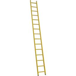 Kunststof enkele ladder GVK 1x14 treden