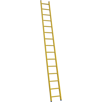 Kunststof enkele ladder GVK 1x24 treden