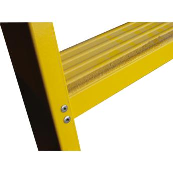 Kunststof dubbele trap met vaste steunbeugel 2x8 treden