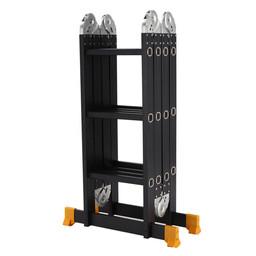 Vouwladder 4x3 Black incl. platform