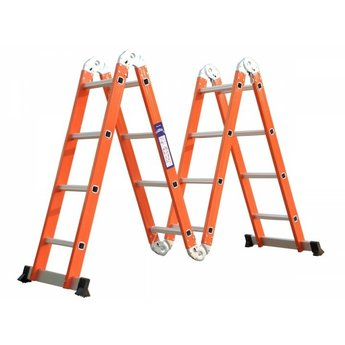 Vouwladder 4x4 Orange