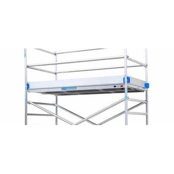 Euroscaffold Rolsteiger Compleet 90 x 190 x 4,2 meter werkhoogte  met tuinsteigerwielen / voetplaten
