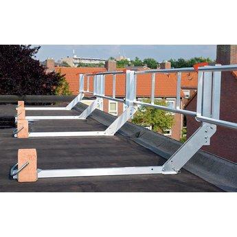 RSS dakrandbeveiliging RSS dakrandbeveiliging plat dak  complete set 12 meter