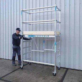 Euroscaffold Maandaanbieding: Kamersteiger Compact werkhoogte 3,5 meter (module 1+2)