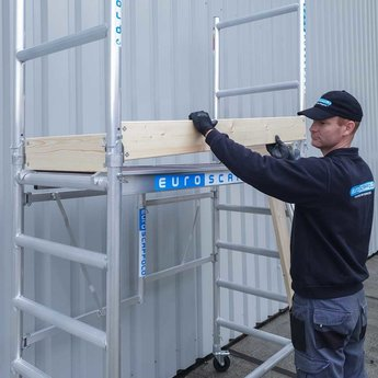 Steiger Compact werkhoogte 3,5 meter met verstelbare rolsteigerwielen  (module 1+2)