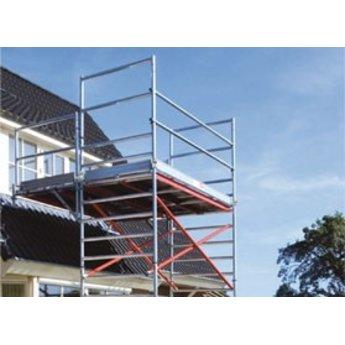 Euroscaffold Uitwijkconsole universeel 135 x 250 cm complete set met lichtgewicht platform