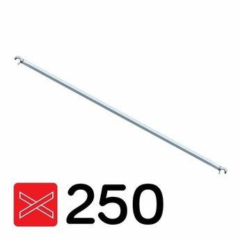 Rolsteiger diagonale schoor geschikt voor rolsteigers met een lengte van 250 cm