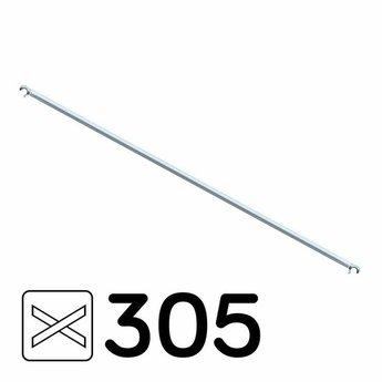 Rolsteiger diagonaal schoor geschikt voor rolsteigers met een lengte van 305 cm