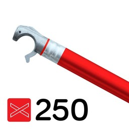 Rolsteiger diagonaal schoor 250 - Rood