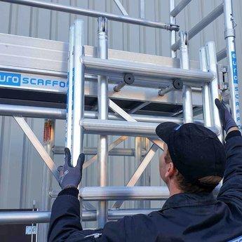 Euroscaffold Eenpersoons rolsteiger 4,2 meter werkhoogte