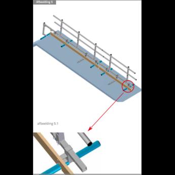 Kantplank 3 meter Roof Shelter kopgevelbeveiliging
